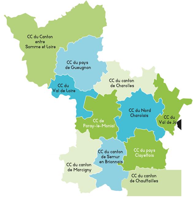 Zone d'intervention – Réseau de Santé du Pays Charolais